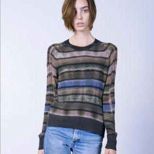Raquel allegra cashmere distressed sweater size 3